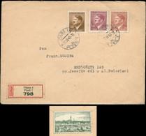 P0394 - DR Böhmen Und Mähren Propaganda R - Briefumschlag Mit Vignette Pilsen: Gebraucht Pilsen 1942 , Bedarfserhaltun - Covers & Documents