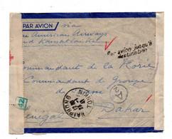 Haiphong. Tonkin.Lettre Pour Dakar  . Controle Postal Militaire. 1941 - Brieven En Documenten