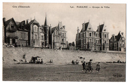 CPA 35 - PARAME (Ille Et Vilaine) - 546. Groupe De Villas - ELD (petite Anim.) - Parame