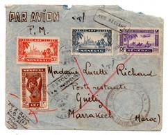 Lettre Du Senegal. Base Aerienne Pour Marrakeck Maroc. - Brieven En Documenten