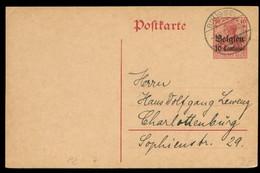 S8046 - WWI Belgien GS Postkarte : Gebraucht Brüssel ,1914 - Bezetting 1914-18