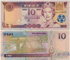 FIJI        10 Dollars        P-106a      ND (2002)        UNC - Fiji