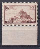 1930 - YVERT N° 260a * MLH (CHARNIERE QUASI-INVISIBLE) ! - COTE = 27 EUR. - MONT-SAINT-MICHEL - Neufs