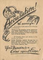 Rare Tract Allemand Tiré Par Obus  Sur Américains Et Anglais Front Normandie  Juin 1944 - 1939-45