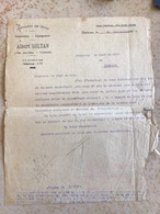 Algérie: Facture Commerciale à Entête Judaïca - Tlemcen 1943 - Ambachten