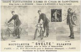 CPA - Bicyclette SVELTE Pliante - Manufacture De Saint-Etienne (Reproduction)    * - Saint Etienne
