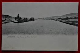 CPA Andenne La Meuse En Aval Du Pont - Andenne