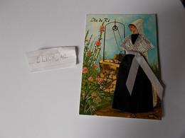Belle Carte Brodée Tissus N°1 Le Morvan Folklorique  éditions Nivernaises - Borduurwerk