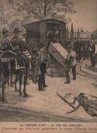 LE PETIT PARISIEN 03 06 1894 - CIMETIERE D'IVRY CERCUEIL DE L'ANARCHISTE EMILE HENRY - CYCLISME BORDEAUX PARIS LESNA - 1850 - 1899