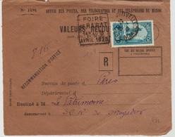 Maroc  De Rabat Ville Nouvelle En 1928 Daguin Foire De Rabat  1928 TB - Storia Postale