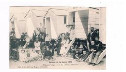 Oostende  Episode De La Guerre 1914  Réfugiés Belges Dans Les Cabines D'Ostende Uitgever Bertels - Oostende
