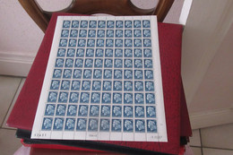 FRANCE  1937    FEUILLE Entière De N° 1535   X  100 N**  MNH FRAGILE - Fogli Completi