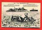 MARSEILLE CHATEAU D IF 1922 CARTE HUMORISTIQUE EN BON ETAT - Château D'If, Frioul, Islands...