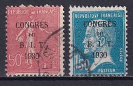 1930 - YVERT N° 264/265- COTE = 18.3 EUR. - SEMEUSE + PASTEUR BIT - Oblitérés