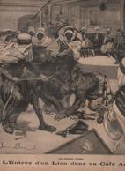 LE PETIT PARISIEN 17 06 1894 - LION CAFE ARABE KALAA ALGERIE - VELOCIPEDE PARIS MANTES / BOIS DE BOULOGNE - - 1850 - 1899