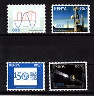 2015 Kenya  ITU Satellite Science Space Complete Set Of  4 MNH - Kenya (1963-...)