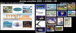 WALLIS ET FUTUNA Année Complète 2000 +PA +BF : Yv. 535 à 547 + PA 220 + BF 9 ** Faciale= 29,92 EUR - 18 Tp Réf.W&F23097 - Full Years