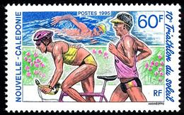 NOUV.-CALEDONIE 1995 - Yv. 684 **   Faciale= 0,50 EUR - Triathlon : Coureur, Cycliste Et Nageur  ..Réf.NCE26395 - Nuovi
