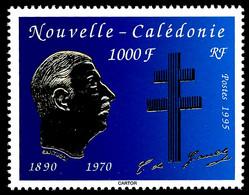 NOUV.-CALEDONIE 1995 - Yv. 682 **   Faciale= 8,38 EUR - Général De Gaulle  ..Réf.NCE26392 - Nuovi