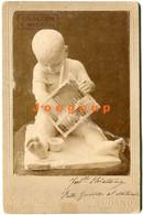 Photo Cabinet Brunel Art Baby Sculpture Lugano Italia - Old (before 1900)