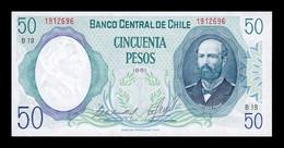 Chile 50 Pesos 1981 Pick 151c(2) SC- AUNC - Chile