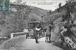 46 - L'Autobus Dans La Vallée Du Lot - Une Mauvaise Rencontre - éditeur Pierre Malroux à Aurillac CPA 1911 TRES BON ETAT - Sin Clasificación