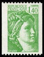 France N° 2157 ** Sabine De Gandon. Roulette, Le 1f40 Vert - Unused Stamps