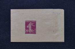 FRANCE - Entier Postal ,Bande Journal Au Type Semeuse 20ct Non Utilisé - L 91234 - Newspaper Bands