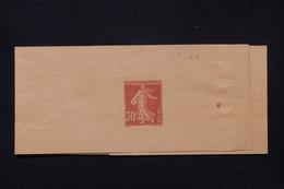 FRANCE - Entier Postal , Bande Journal Au Type Semeuse 30ct Non Utilisé - L 91235 - Newspaper Bands