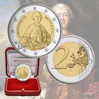 """Monaco 2020 : 2€ Commémorative """"300 Ans Naissance Honoré III""""   (BE Et En Coffret) - DISPONIBLE EN FRANCE - Monaco"""
