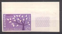 Superbe Coin De Feuille Europa YT 1358 De 1962 Sans Trace Charnière - Imperforates