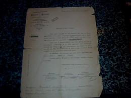 Vieux Papier Train Document De L'  Association Fraternelle Des Ouvrier Et Employés Des Chemins De Fer Français 1916 - Ferrovie