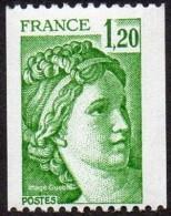 France N° 2103 ** Sabine De Gandon - Le 1f20 Vert De Roulette - Unused Stamps