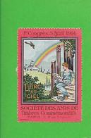 Erinnophilie Aviation 1er Congrès Avril 1914 Société Des Amis De Timbres Commémoratifs ROUGE....G - Luchtvaart