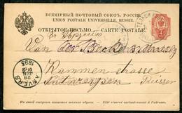 6206 Russia LITHUANIA Telshi (Telšiai) Kovno Gub. Cancel 1898 Card Stationery To Anvers Pmk - Briefe U. Dokumente