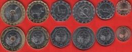 Mauritania Set Of 6 Coins: 1/5 - 20 Ouguiya 2017-2018 UNC - Mauritania