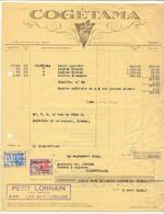 0711 -België  Factuur COGETAMA  Tabak  Te GAND Met Fiscale Zegels 1936 - 1900 – 1949