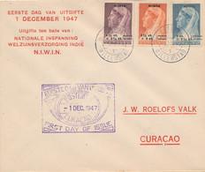 Curacao - 1947 - Niwin-serie Op Speciale Cover 1e Dag, Lokaal Curacao - Niederländische Antillen, Curaçao, Aruba