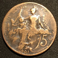 FRANCE - 5 CENTIMES 1901 - Daniel-Dupuis - Gad 165 - KM 842 - C. 5 Centesimi