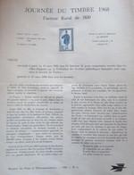 DOCUMENT DE LA POSTE 1968     N° 4 JOURNEE DU TIMBRE 1968  (facteur Rural De 1830) - Documentos Del Correo