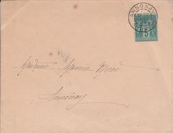 SAGE SUR LETTRE DE ANNONAY ARDECHE 1889 - 1877-1920: Semi Modern Period
