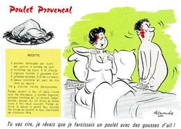 Poulet Provençal - éditions Groupement Des Humoristes De Presse, Marcel Vaysse - Neuve - Recipes (cooking)