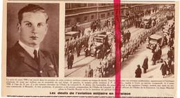 Orig. Knipsel Coupure Tijdschrift - Aviation Funérailles Pilotes De Jardin, Marchal, Forster - Uccle , Momalle - 1940 - Unclassified