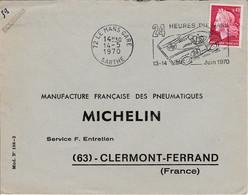 FLAMME 24 HEURES DU MANS 1970 - Mechanische Stempels (reclame)