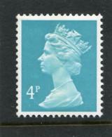 GREAT BRITAIN - 1984  4p  MACHIN  CB  EX BOOKLET  MINT NH  SG X863 - Série 'Machin'