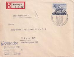 ALLEMAGNE 1942 LETTRE RECOMMANDEE DE HAMBURG AVEC CACHET ARRIVEE WIEN - Briefe U. Dokumente