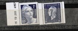 FRANCE YT 4986/4987 TIMBRES EXTRAIT DU BLOC LIBERATION** PEU COMMUN   GAUCHE - Unused Stamps