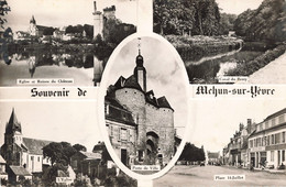 18 Mehun Sur Yevre Carte 5 Vues Canal Berry Place 14 Juillet Eglise Porte De La Ville  CPSM PF - Mehun-sur-Yèvre