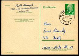 DDR P71 Postkarte Gelaufen Bitterfeld - Halle 1971 - Postales Privados - Usados