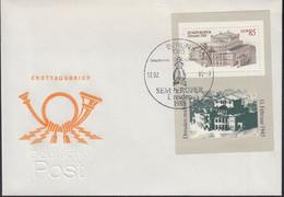DDR Block 80 FDC - Wiedereröffnung Der Semperoper Dresden - 12.2.1985 - Briefe U. Dokumente